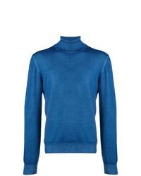 Jersey de cuello alto azul de Tagliatore