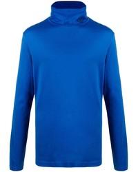 Jersey de cuello alto azul de Versace