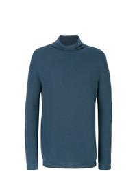 Jersey de cuello alto azul de Wooyoungmi