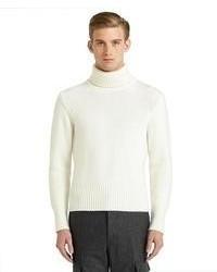 Jersey de cuello alto blanco