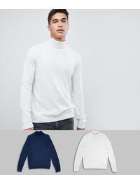 Jersey de cuello alto blanco de ASOS DESIGN