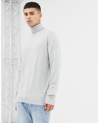 Jersey de cuello alto blanco de Jack & Jones