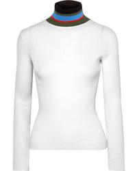 Jersey de cuello alto blanco de Proenza Schouler