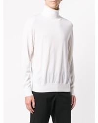 Jersey de cuello alto blanco de Z Zegna