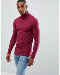 Jersey de cuello alto burdeos de ASOS DESIGN