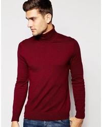 Jersey de cuello alto burdeos de Esprit