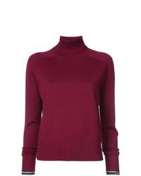 Jersey de cuello alto burdeos de Proenza Schouler