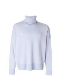 Jersey de cuello alto celeste de AMI Alexandre Mattiussi
