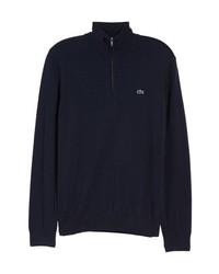 Jersey de cuello alto con cremallera azul marino