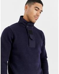 Jersey de cuello alto con cremallera azul marino de G Star