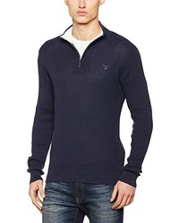 Jersey de cuello alto con cremallera azul marino de Gant