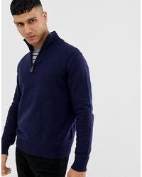 Jersey de cuello alto con cremallera azul marino de J.Crew Mercantile