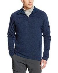 Jersey de cuello alto con cremallera azul marino de Mammut