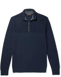 Jersey de cuello alto con cremallera azul marino de Michael Kors
