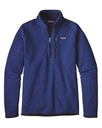 Jersey de cuello alto con cremallera azul marino de Patagonia