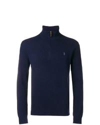 Jersey de cuello alto con cremallera azul marino de Polo Ralph Lauren