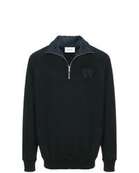 Jersey de cuello alto con cremallera azul marino de Wood Wood