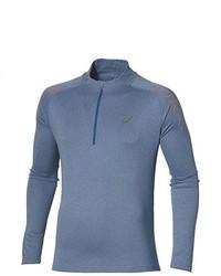 Jersey de cuello alto con cremallera azul de Asics