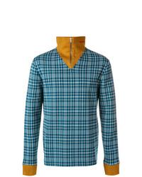 Jersey de cuello alto con cremallera azul de Calvin Klein 205W39nyc