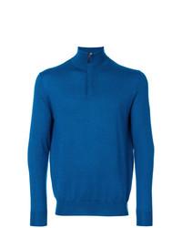 Jersey de cuello alto con cremallera azul de N.Peal
