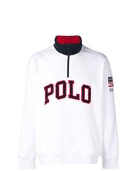 Jersey de cuello alto con cremallera blanco de Polo Ralph Lauren
