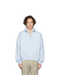 Jersey de cuello alto con cremallera celeste de Martin Asbjorn