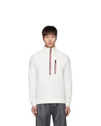 Jersey de cuello alto con cremallera de forro polar blanco de MONCLER GRENOBLE