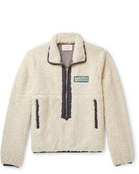 Jersey de cuello alto con cremallera de forro polar en beige de Holiday Boileau
