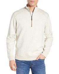Jersey de cuello alto con cremallera en beige