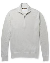 Jersey de cuello alto con cremallera en beige de Loro Piana