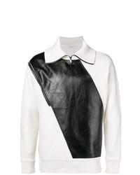 Jersey de cuello alto con cremallera en blanco y negro de Givenchy