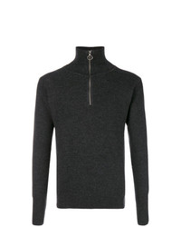 Jersey de cuello alto con cremallera en gris oscuro de Barena