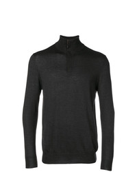 Jersey de cuello alto con cremallera en gris oscuro de N.Peal