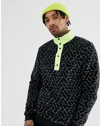 Jersey de cuello alto con cremallera en multicolor de ASOS DESIGN