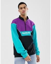 Jersey de cuello alto con cremallera en multicolor de Reebok