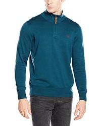 Jersey de cuello alto con cremallera en verde azulado de Timberland