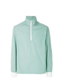 Jersey de cuello alto con cremallera en verde menta de Marni
