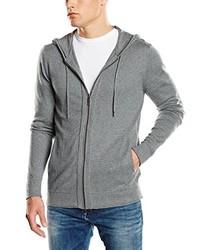 Jersey de cuello alto con cremallera gris de Calvin Klein