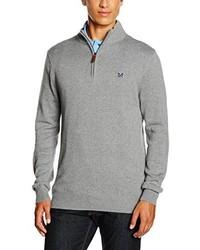 Jersey de cuello alto con cremallera gris de Crew Clothing