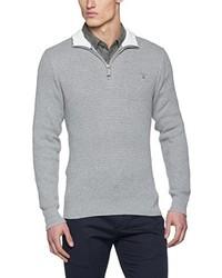 Jersey de cuello alto con cremallera gris de Gant