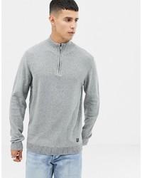 Jersey de cuello alto con cremallera gris de Jack & Jones