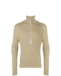 Jersey de cuello alto con cremallera marrón claro de Tom Ford