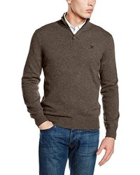 Jersey de cuello alto con cremallera marrón de Hackett Clothing