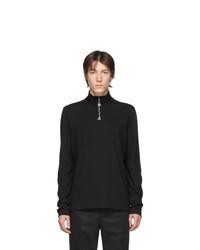 Jersey de cuello alto con cremallera negro de Acne Studios