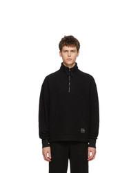 Jersey de cuello alto con cremallera negro de AMI Alexandre Mattiussi