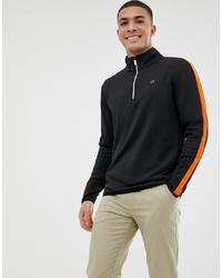 Jersey de cuello alto con cremallera negro de Calvin Klein Golf