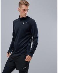 Jersey de cuello alto con cremallera negro de Nike Running