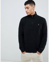 Jersey de cuello alto con cremallera negro de Polo Ralph Lauren