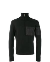 Jersey de cuello alto con cremallera negro de Prada