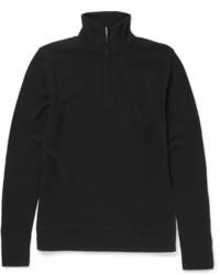 Jersey de cuello alto con cremallera negro de rag & bone